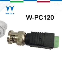 male bnc connector to rj45 with terminal screws