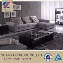 Indoor furniture three seater small L shaped sofa set,modern l shape sofa design