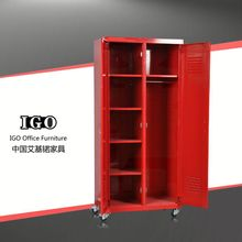 IGO Elegant knocked down steel 2 door cheap wardrobe designer almirah wardrobe