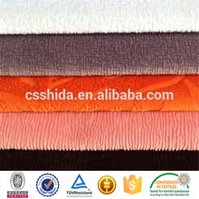 polyester burn-out solid color shiny silk home textile super soft short pile velour fleece fabric