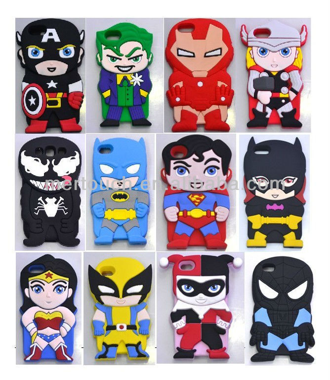 Cartoon Characters Iphone 6 Cases : For iphone new cute d silicone cartoon character phone