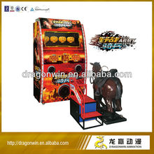 Hottest usde coin simultaor target shooting and ride on horse arcade shooting game machine