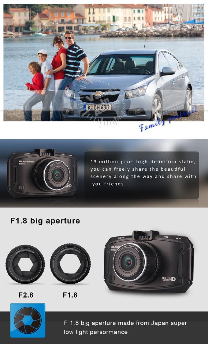 Автомобильный видеорегистратор Blackview BL950 HD DVR 2.7 170 dash cam