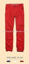 2012 men bright color cotton chino pants