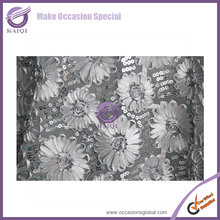 #18817 silver sequin jute table overlay