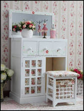 bedroom sets korea countrystyle white wooden KIDS DRESSERS with hand craft storage drawer