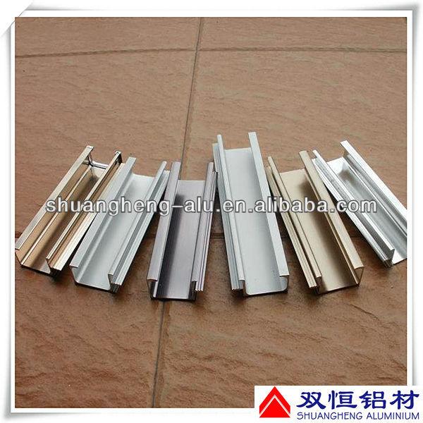 Anodizado de aluminio perfil de vidrio puerta corredera rail - Perfil aluminio anodizado ...
