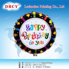 18 '' foil globo redondo para la fiesta de cumpleaños globo de la promoción