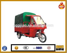 2015 Hot sale gasoline engine motocarro pasajero with canvas passenger tricycle china