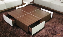 Wooden Coffee Table with Drawers Designs