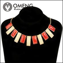 Hot Sale Shourouk Latest Heavy Industry Dazzle Colour Gem Diamond Alloy Necklace