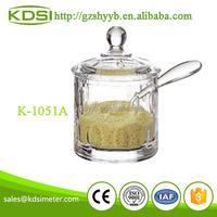 Plastic condiment spice container acrylic kitchenware K-1051A Round Dot Salt Jar