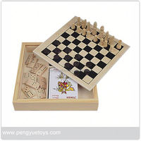Wooden Game Set in Box , Multi Game Table , porTable Travel Chess Game