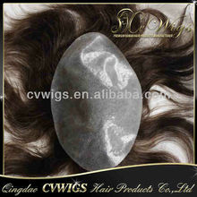 Best quality full pu human hair toupee