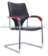 Vistor Chair wood armrest steel base HH087