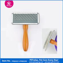 (M) PR80025 unique pet products wholesale with wooden handle pet brush