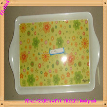 Hylink brand non-toxic melamine tray with print flower