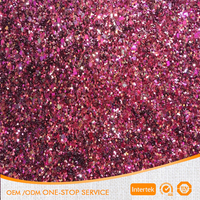 2015 support customization Wholesale shining chunky glitter fabric