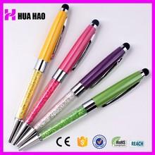 custom metal touch pen promotional crystal bling stylus pen for gift items adveitising bling touch pen