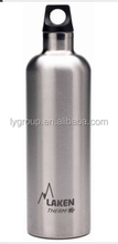 Water bottle, 22 oz BPA free stainless steel bottom and twist off cap.
