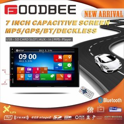 Double Din / 2 Din Car deckless player with GPS / BT/ TV