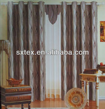 100%Polyester Luxury Jacquard Shade Curtains Bending Lines Jacquard Blackout Jacquard for fancy bathroom curtain