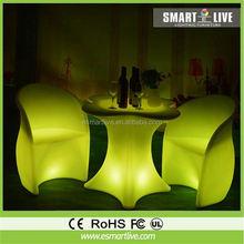 Buy New Plastic Nightclub LED Double Seat High Back Sofa Furniture LGL02X-8011