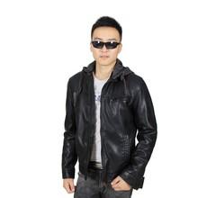 Name Brand SOELUOS Waterproof Mens Winter Leather Coats Jackets