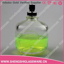 Wholesale fancy 140ml luxury empty glass perfumes bottles with pump sprayer bottle china manufacturer