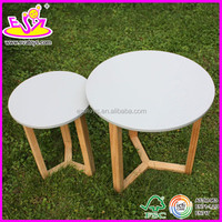New and popular wooden round table for kids,cheap wooden toy children round table,wholesale wooden round table W08G036-A1
