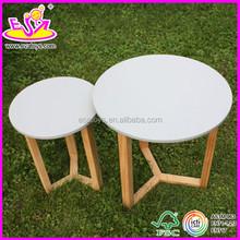 Nueva y popular de la mesa redonda de madera para los niños, De madera del juguete barato de los niños mesa redonda, Venta al por mayor la mesa redonda de madera W08G036-A1