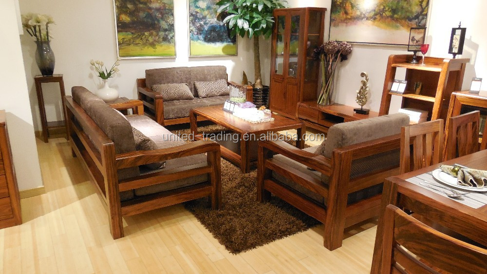 Home furniture living room solid wood sofa buy divan for Home furniture living room