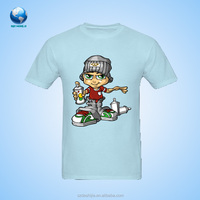 2015 Boys kids summer short sleeve cotton tees blue tops t-shirt baby toddlers tees&Cute t shirts for sublimation printing