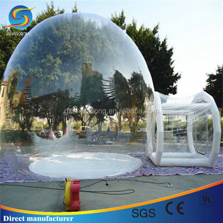 Гигант ясно, надувные газон палатка прозрачный надувной пузырь палатка для продажи