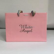 pink shoulder paper shopping bag