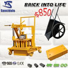 QT40-3C movable block machine ghana, mobile cement block making machine/cheap concrete block machine