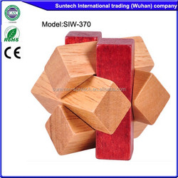 high quality 3d wooden puzzle cube educational toys for kids, wooden toys