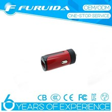 New 2.4A single USB port car charger rubber + ABS charger