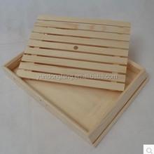 antique handmade rectangular wood plate