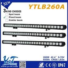 Y&T 260w driving led fog lamp spot light Light Bar for Construction motorcycle led driving lights bars
