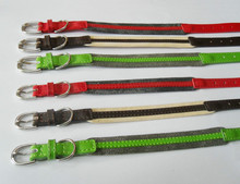 fabric special style genuine leather dog collars