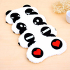 2015 New Korea Style Lovely Cartoon Panda Red Heart Safety Sleeping Goggles Eye Mask Eyeshade Cute Soft Eye Patch