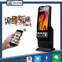 Phoprint 42 inch laptop digitizer touch screen led digital advertising stand touch screen with mobile photo printer