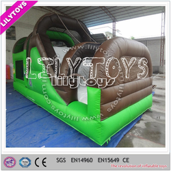Wonderful black n green outdoor inflatable obstacle for sale