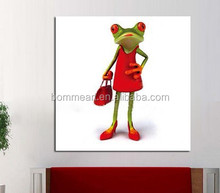 Handmade Abstract Wall Art Modern Miss Frog Abstract Decor Lovely Animal Oil Painting On Canvas Large Canvas Art Cheap