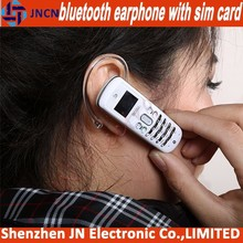 2014 new arrival bluetooth earphone GSM SIM CARD SLOT mini small size mobile phones