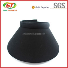 China Golden custom black sun visor cap suppliers with competitive price