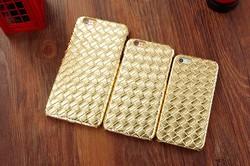 2D Sublimation Case Noble Luxury Retro Diamond Weave Design Leather Case for Leather iPhone 6 Case 5s 6plus Cover