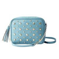2016 hot selling ladies sky blue PU mini cross body bag CL10096