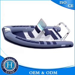 1.2mm stronger pvc fiberglass fishing boat with center console made in china